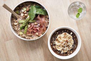 porridge quinoa asperge jambon de parme